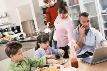Busy parents seeking balance between work, family and self